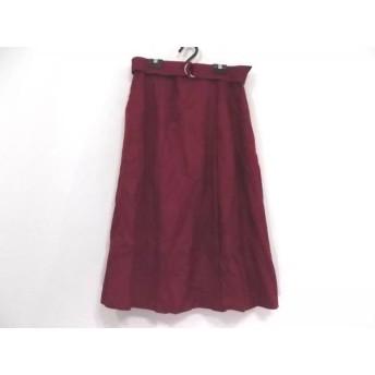 【中古】 ローズティアラ Rose Tiara ロングスカート サイズ46 XL レディース 美品 ボルドー