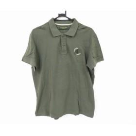 【中古】 ハンティングワールド HUNTING WORLD 半袖ポロシャツ サイズ52 メンズ カーキ