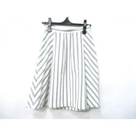 【中古】 インディビ INDIVI スカート サイズ36 S レディース アイボリー ブラック グリーン