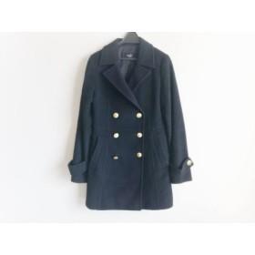 【中古】 ビッキー VICKY Pコート サイズ1 S レディース 黒 冬物