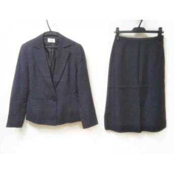 【中古】 アリスバーリー Aylesbury スカートスーツ サイズ11 M レディース ネイビー 肩パッド