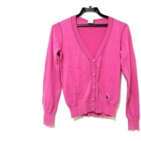 【中古】 ポールスミス ピンク PaulSmith PINK カーディガン サイズM レディース ピンク ニット