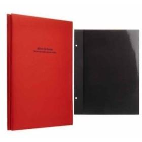フエルアルバム ドゥファビネ A4 アH-A4D-161-R+100年台紙5枚セット(レッド)