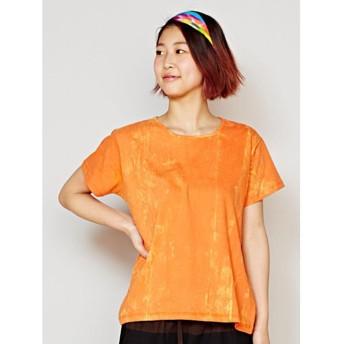 ◆【チャイハネ】バザールTシャツ オレンジ