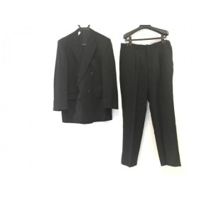 【中古】 サヴィルロウ SAVILE ROW ダブルスーツ サイズ98-88-175 メンズ 黒 ネーム刺繍