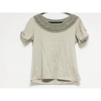 【中古】 ヒロコビス HIROKO BIS 半袖Tシャツ サイズ9 M レディース ブラウン