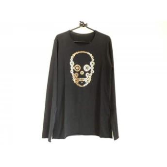 【中古】 ルシアンペラフィネ lucien pellat-finet 長袖Tシャツ サイズS メンズ 黒 ゴールド スカル