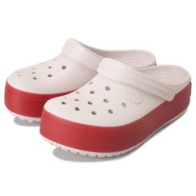 【crocs】 クロックス Crocband Platform Clog B クロックバンドプラットフォーム 205434-6QB Pink/Pepper 22cm