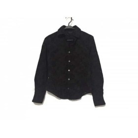 【中古】 ポールスミスブラック PaulSmith BLACK 長袖シャツブラウス サイズ40 M レディース 黒 花柄/刺繍