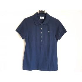 【中古】 ラコステ Lacoste 半袖ポロシャツ サイズ42 L レディース ダークネイビー