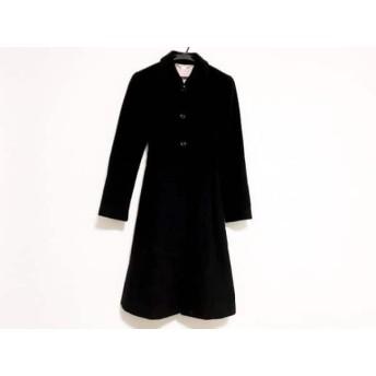 【中古】 エフデ ef-de コート サイズ9 M レディース 黒 アンゴラ/冬物