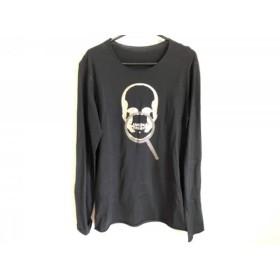【中古】 ルシアンペラフィネ 長袖Tシャツ サイズS メンズ 黒 シルバー スカル/メタルチップ