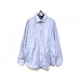 【中古】 ポロラルフローレン 長袖シャツ サイズ17 1/2 メンズ 美品 ライトブルー ストライプ