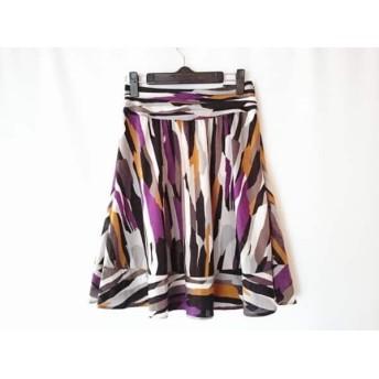 【中古】 マテリア MATERIA スカート サイズ36 S レディース グレー パープル マルチ