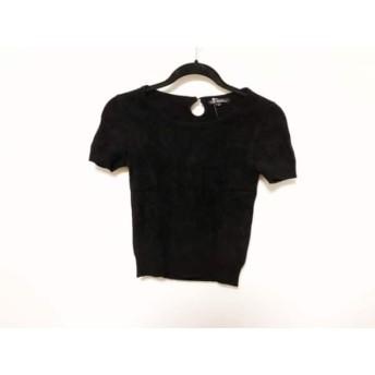 【中古】 ニジュウサンク 23区 半袖セーター サイズ32 XS レディース 黒