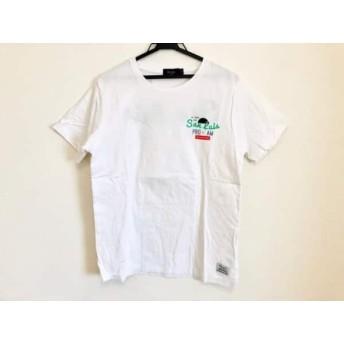 【中古】 ポールスミス PaulSmith 半袖Tシャツ サイズL レディース 白 グリーン レッド マルチ