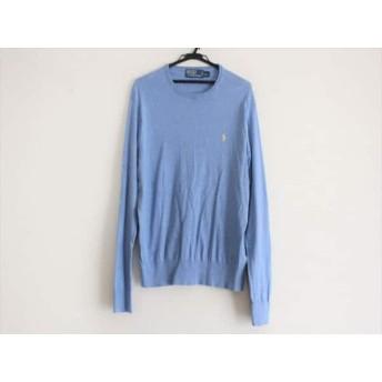【中古】 ポロラルフローレン POLObyRalphLauren 長袖セーター サイズL メンズ 美品 ブルー