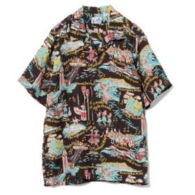 SUN SURF / ハワイアン アロハ シャツ メンズ カジュアルシャツ BLACK S