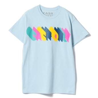 Cash only / Trip Logo Tee メンズ Tシャツ SAX XL