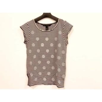 【中古】 マークバイマークジェイコブス 半袖Tシャツ サイズXS レディース ベージュ 黒 ボーダー
