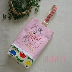 オリジナル刺繍のシューズバッグ(上履き入れ)