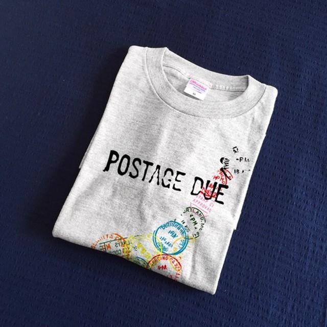 きりん スタンプ Tシャツ(グレー)