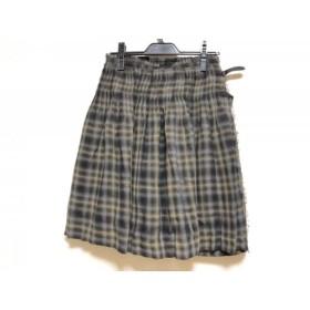 【中古】 ニジュウサンク 23区 巻きスカート サイズ36 S レディース 白 ダークグレー マルチ