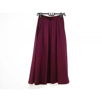【中古】 ティアクラッセ Tiaclasse ロングスカート サイズM レディース 美品 ボルドー
