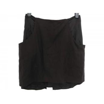 【中古】 エムエムシックス MM6 ミニスカート サイズ38 L レディース 黒 異素材