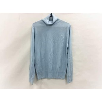 【中古】 ランバンコレクション 長袖セーター サイズ48 L メンズ ライトブルー タートルネック/カシミヤ
