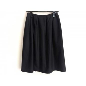 【中古】 フォクシー FOXEY スカート サイズ40 M レディース 黒 シルク