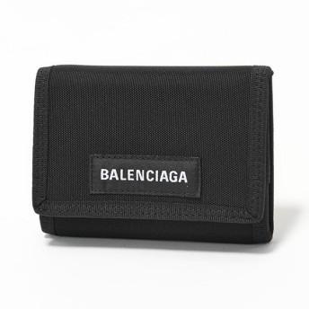 BALENCIAGA バレンシアガ 507481 9TYY5 1000 エクスプローラー ナイロン ベルクロ 三つ折り財布 スモール BLACK メンズ