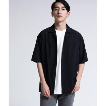 tk.TAKEO KIKUCHI(ティーケー タケオ キクチ) ポリトロオープンカラーシャツ