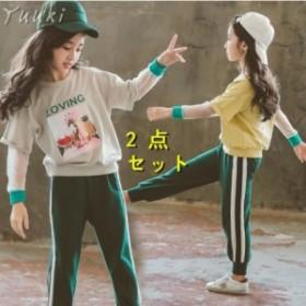 子供服セットアップ 女の子 チェック柄  キッズ用2点セット 長袖  韓国子供服 レギパン ストレッチパンツ 学生服 ジュニア  上下