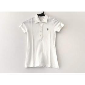 【中古】 ラルフローレン RalphLauren 半袖ポロシャツ サイズM レディース 白