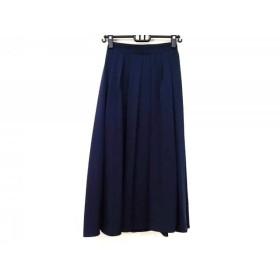 【中古】 ティアクラッセ Tiaclasse ロングスカート サイズM レディース 美品 ダークネイビー