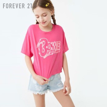 FOREVER21 フォーエバー21 【[KIDS]BowieロゴTシャツ】(5,000円以上購入で送料無料)