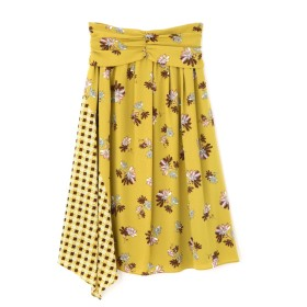 ジル スチュアート JILLSTUART フラワーチェックドッキングスカート【公式サイト限定サイズあり】 MUSTARD 0【税込10,800円以上購入で送料無料】