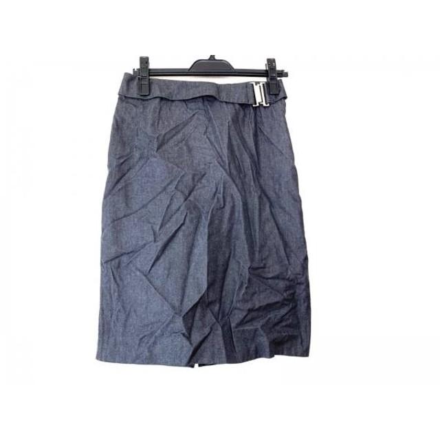 【中古】 バーバリーロンドン Burberry LONDON スカート サイズ40 L レディース ダークグレー