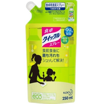花王 食卓クイックルスプレー ほのかな緑茶の香り つめかえ用 250ml