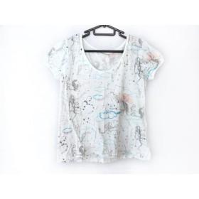 【中古】 ツモリチサト TSUMORI CHISATO 半袖Tシャツ サイズ2 M レディース 白 ゴールド マルチ