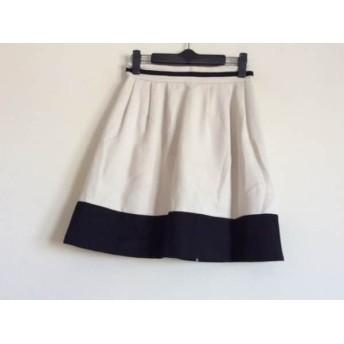 【中古】 ダイアグラム Diagram GRACE CONTINENTAL スカート サイズ36 S レディース アイボリー 黒