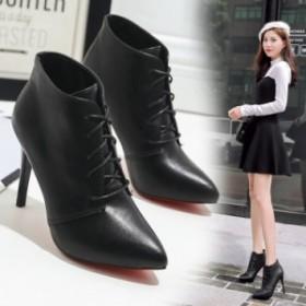 ブーティ レディース カジュアルブーツ ブラック 黒 レッドソール 女性用 婦人靴 くつ レディースシューズ 韓国 かわいい 819 韓国 ファ