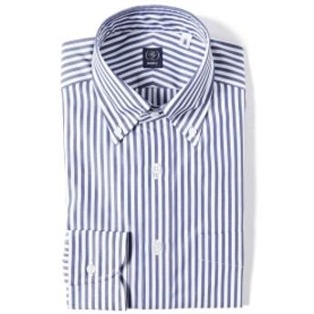 BEAMS F / ロンドンストライプ ボタンダウンシャツ メンズ ドレスシャツ BLUE/11 40