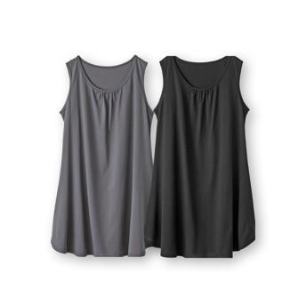 裾フレアロングタンクトップ2枚組(吸汗速乾) (タンクトップ・ノースリーブインナー)