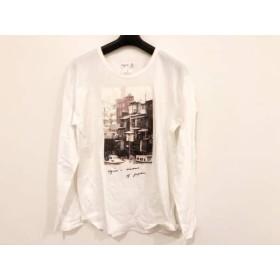 【中古】 アニエスベー agnes b 長袖Tシャツ サイズM メンズ ダークブラウン 黒 マルチ