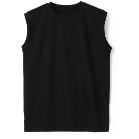 ESTNATION / コットンスムースノースリーブカットソー ブラック/38(エストネーション)◆レディース Tシャツ/カットソー