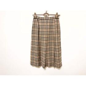 【中古】 ダックス DAKS スカート サイズ66 92 レディース ベージュ マルチ プリーツ/チェック柄