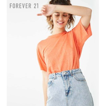 FOREVER21 フォーエバー21 リネンクルーネックTシャツ