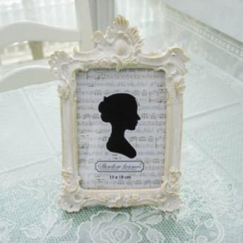 写真立て フォトフレーム クラシカルデザイン 白角 アンティーク調 高級感 プレゼント お祝い ギフト